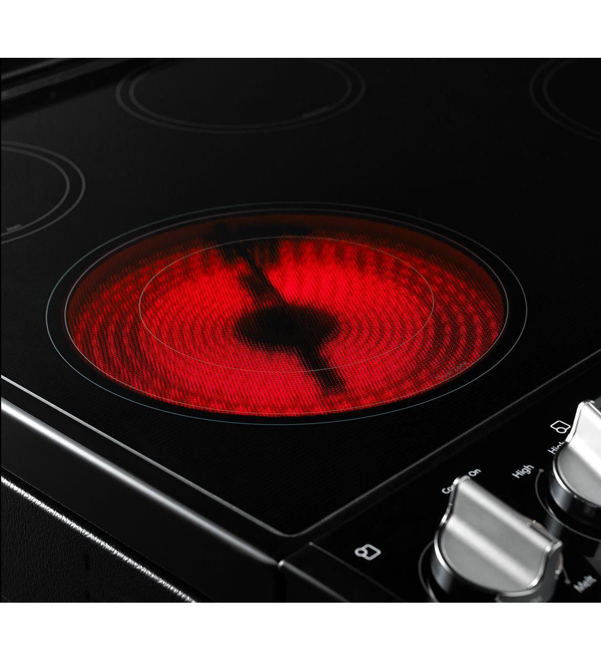 Cuisinière électrique coulissante avec convection TimeSavor™ de 6,2 pi cu