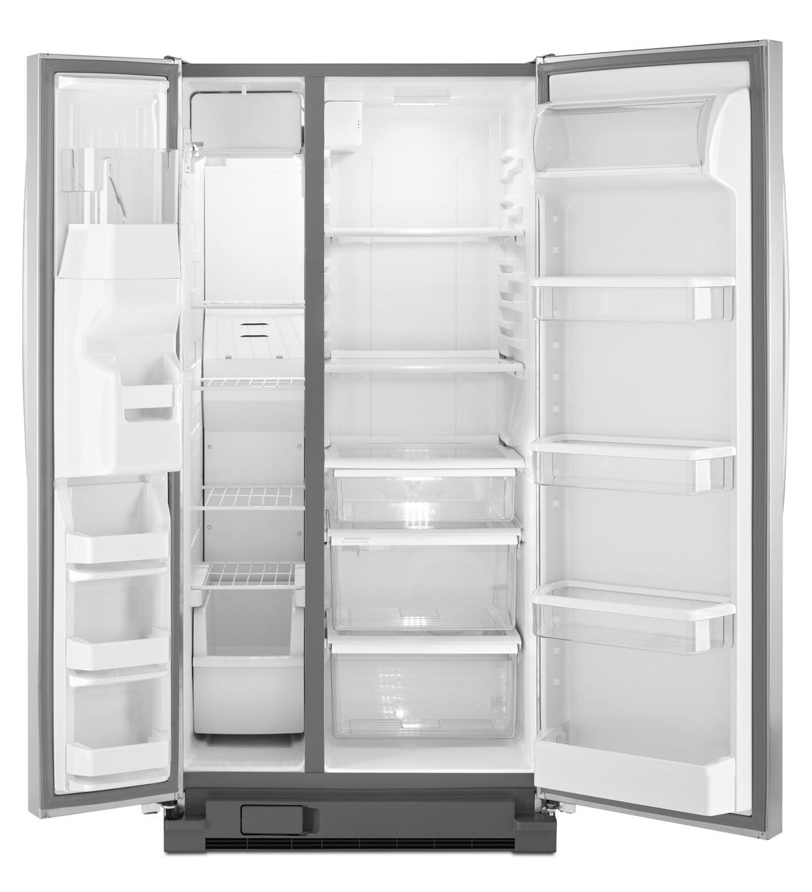 Réfrigérateur côte à côte Whirlpool® 21 pi cu avec système In-Door-Ice®