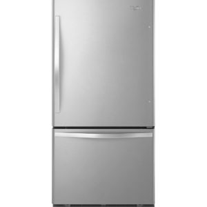 Réfrigérateur à congélateur inférieur Whirlpool 19 pi cu