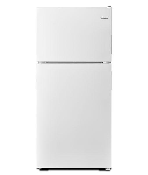 Réfrigérateur à congélateur supérieur Amana® de 18 pi cu avec commandes électroniques de température
