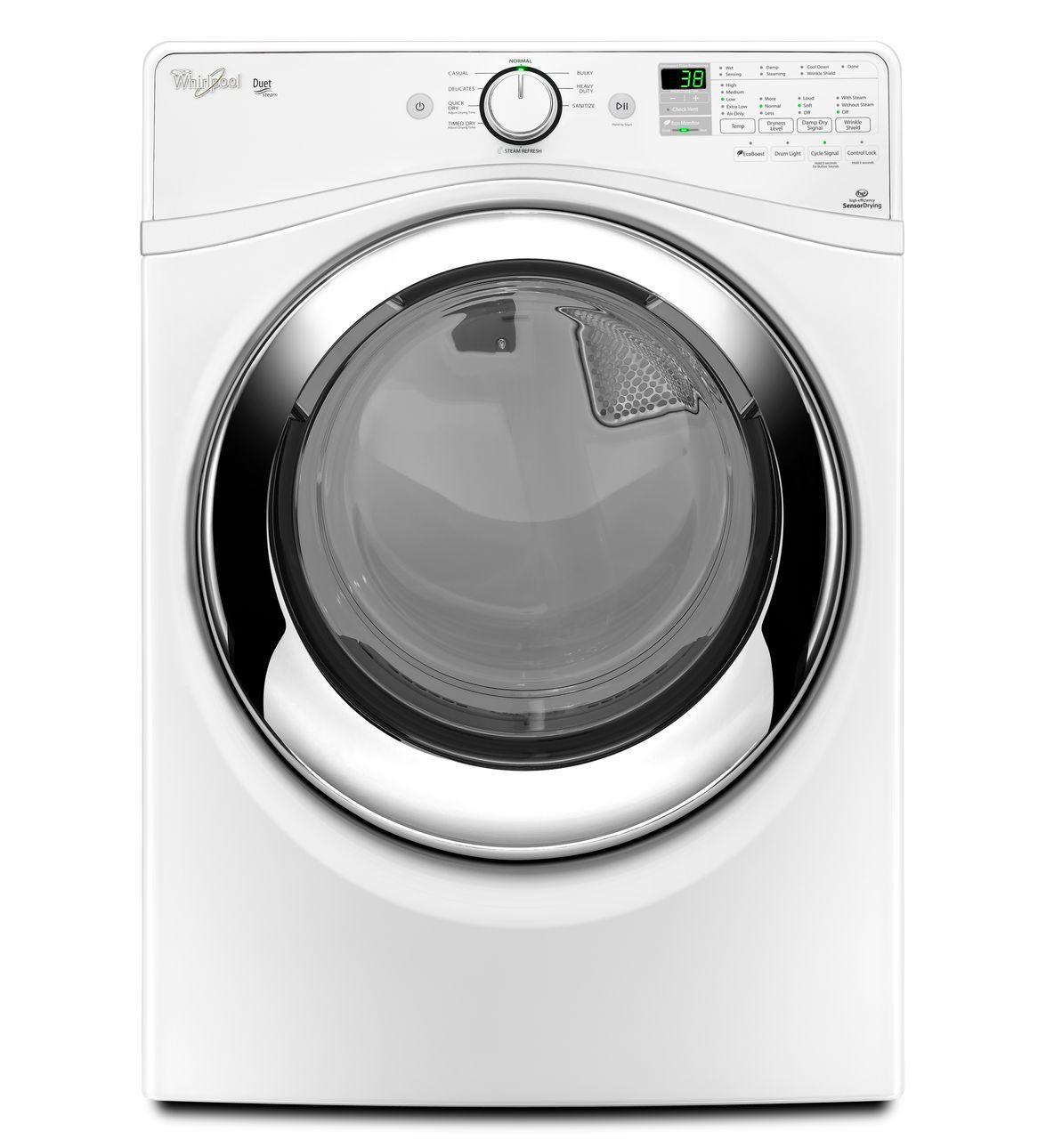 Whirlpool® Duet® 7,3 pi cu C.E.I.* Sécheuse Vapeur dotée de l'option antifroissement Wrinkle Shield™ à la vapeur