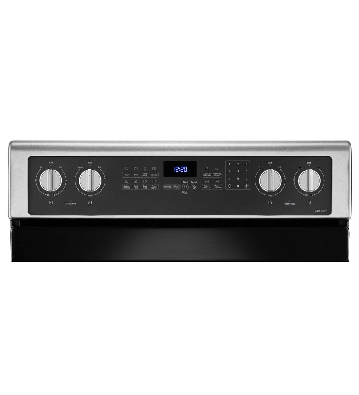 6.4 pi cu cuisinière électrique avec tiroir réchaud